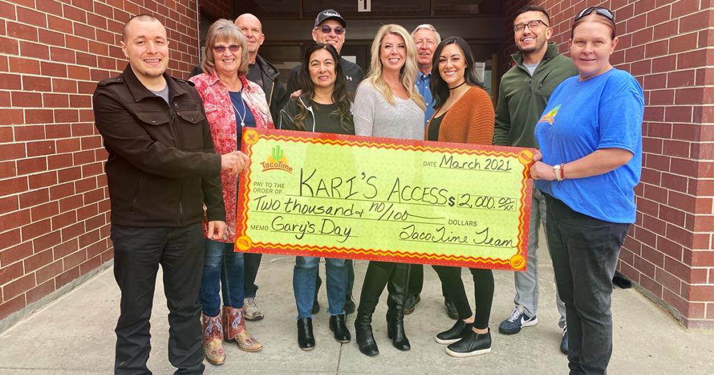 Gary Collins Memorial Fundraiser Raises $2,000 for Kari's Access Awards