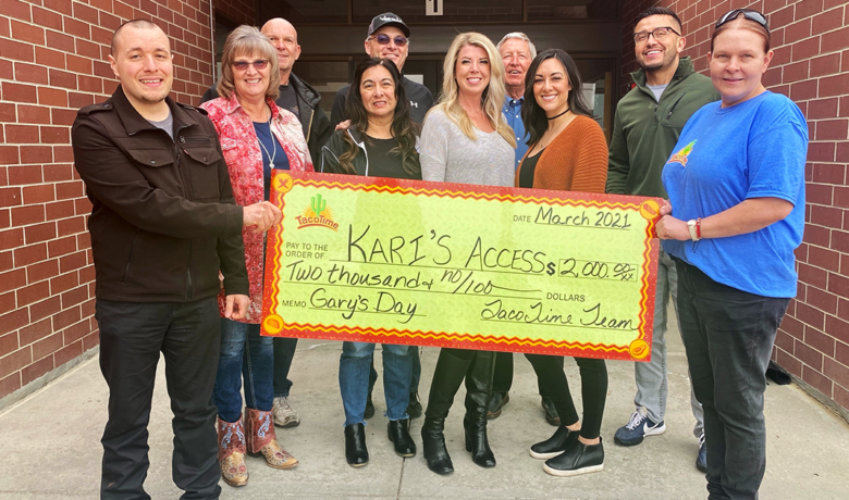 Gary Collins Memorial Fundraiser Raises $2,000 for Kari's Access Awards