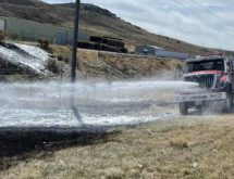 PHOTOS: Uinta County Firefighters Battle 85-Acre Brush Fire