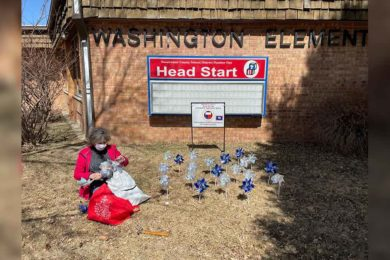 Pinwheels Placed in Front of Head Start Serve a Purpose