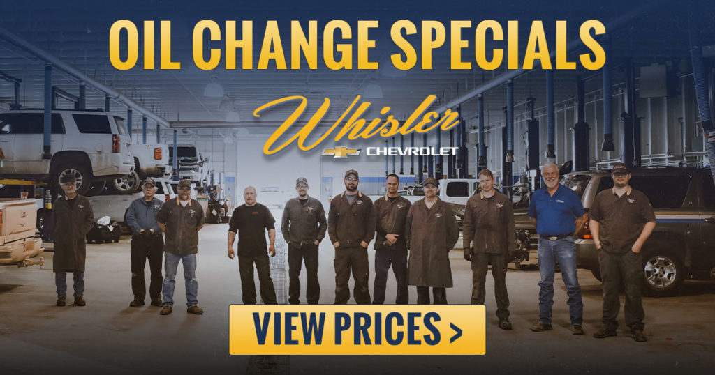 Stay Road Ready With April Oil Change Specials at Whisler
