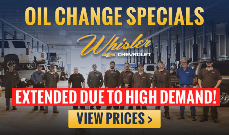 EXTENDED Through May!–Stay Road Ready With Oil Change Specials at Whisler