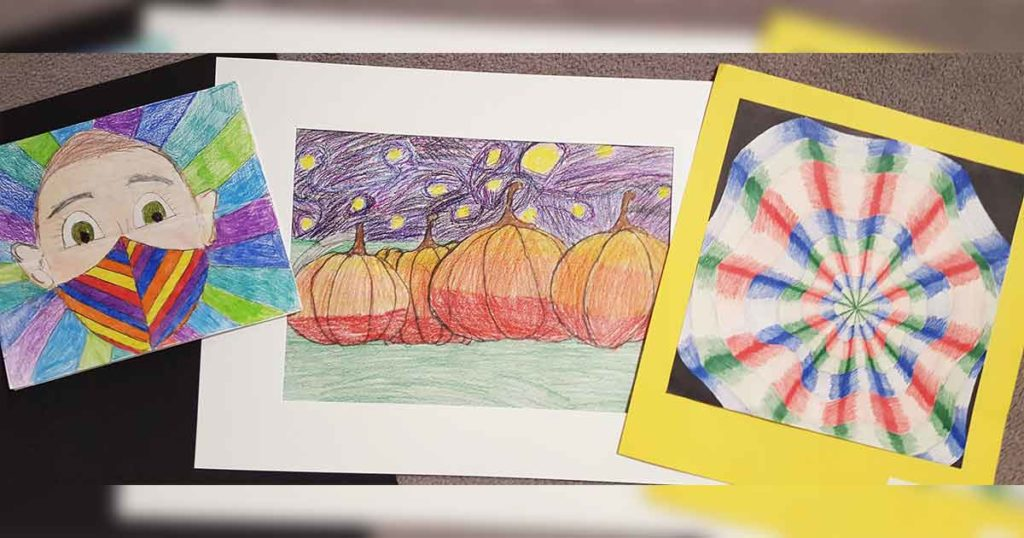 Eastside and Pilot Butte Elementary Students' Artwork Now on Display