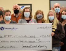Commerce Bank of Wyoming Employees Donate to Hospice of Sweetwater County