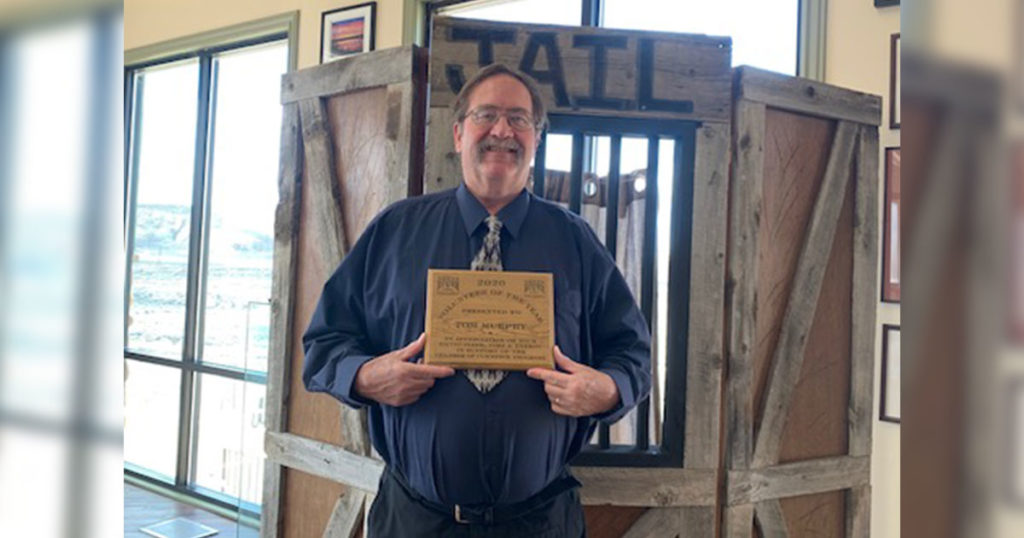 Green River Chamber Honors Tom Murphy with Volunteer of the Year Award
