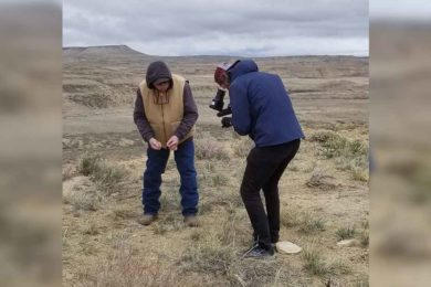 French Television Crews Shoots History Feature in Sweetwater County