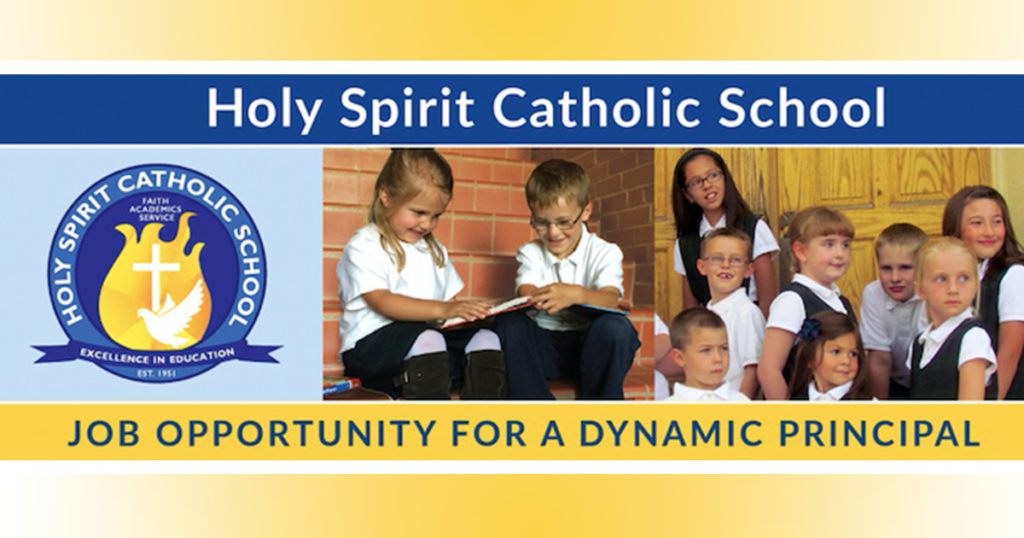 Holy Spirit Catholic School is Seeking a Faith-Filled, Dynamic Principal