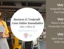 [REGISTER] Free Online Roundtables for Businesses & Non-Profits